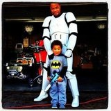 So cute: rapper Xzibit and his son went as a Storm Trooper and the tiniest Batman. Source: Instagram user xzibit