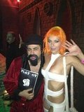 Leeloo Adrianne Curry dressed as Leeloo from The Fifth Element. Source: Twitter user adriannecurry