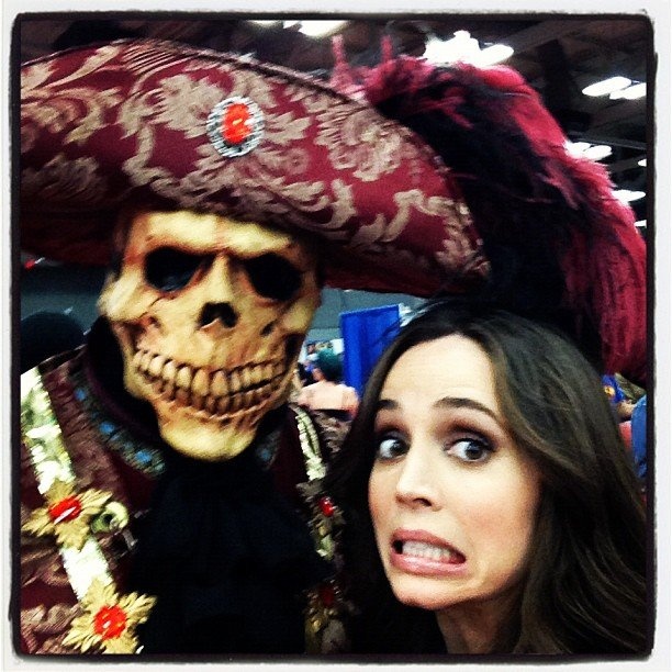 Eliza Dushku got a scare.  Source: Instagram user elizadushku