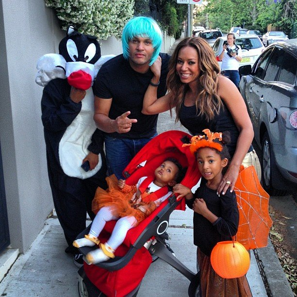 Mel B's whole family got in on the Halloween fun. Source: Instagram user officialmelb