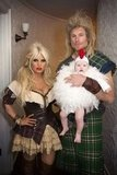 Jessica Simpson was a milkmaid for Halloween with her little chicken Maxwell.