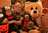 Mariah Carey and Nick Cannon dressed their adorable twin, Moroccan Cannon and Monroe Cannon, in bear costumes for Halloween in 2012. Source: Dembabies.com