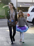 Courteney Cox and Coco Arquette took a stroll around Brentwood  in 2012.