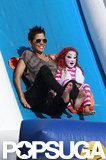 Halle Berry and Nahla Aubrey had fun at Mr. Bones Pumpkin Patch.