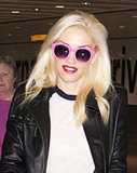 Gwen Stefani had pink shades on.