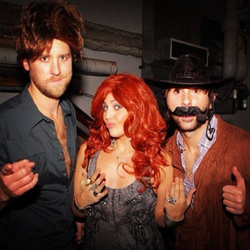 Lady Antebellum wore wigs for Halloween. Source: Instagram user lady_antebellum