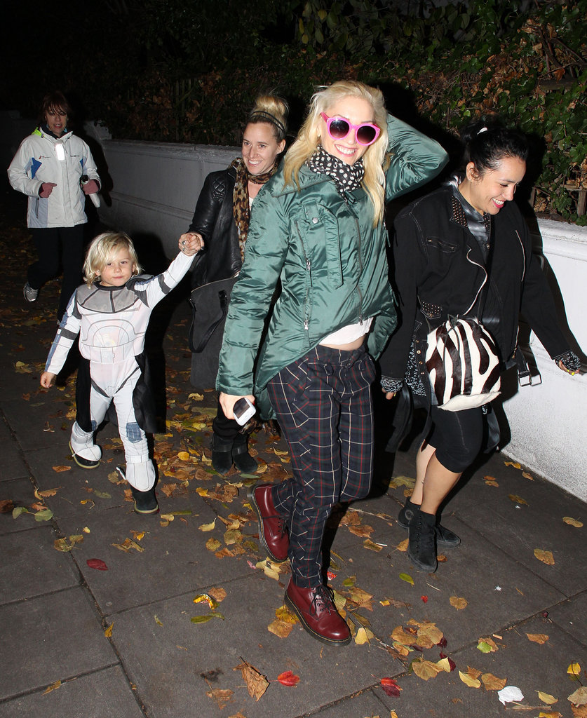 Gwen Stefani took Zuma Rossdale trick-or-treating in London in 2012.