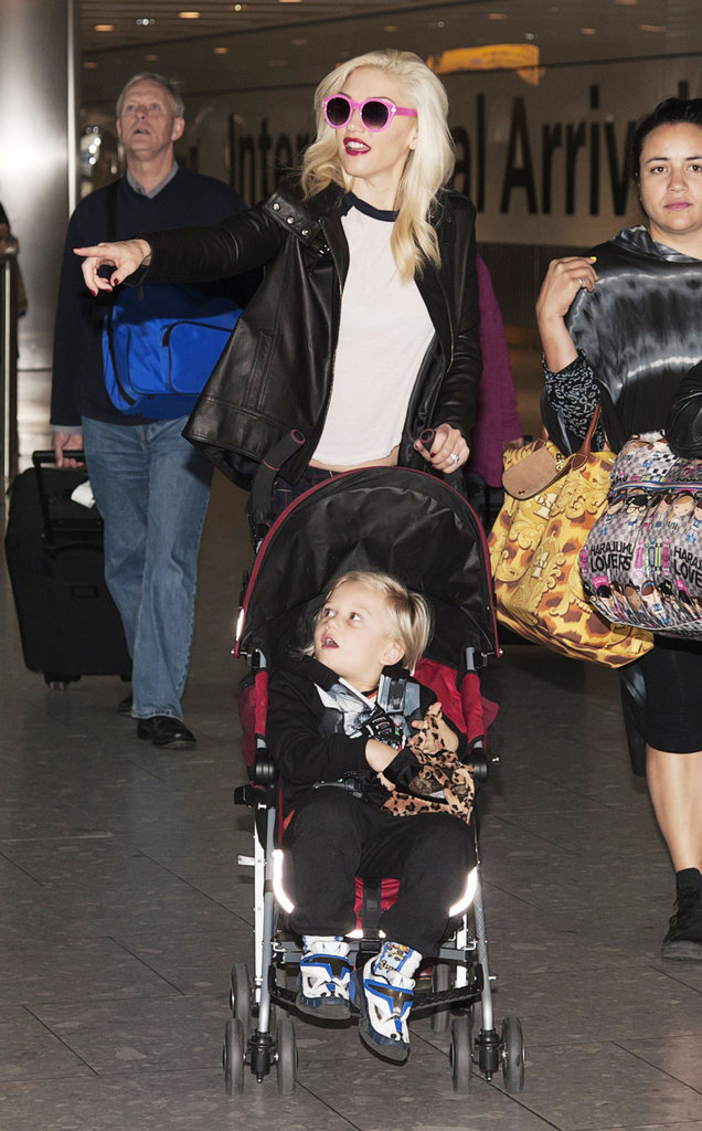 Gwen Stefani pushed her son Zuma in London.