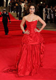 All eyes were on Bérénice Marlohe's red Vivienne Westwood gown at the Skyfall London premiere.