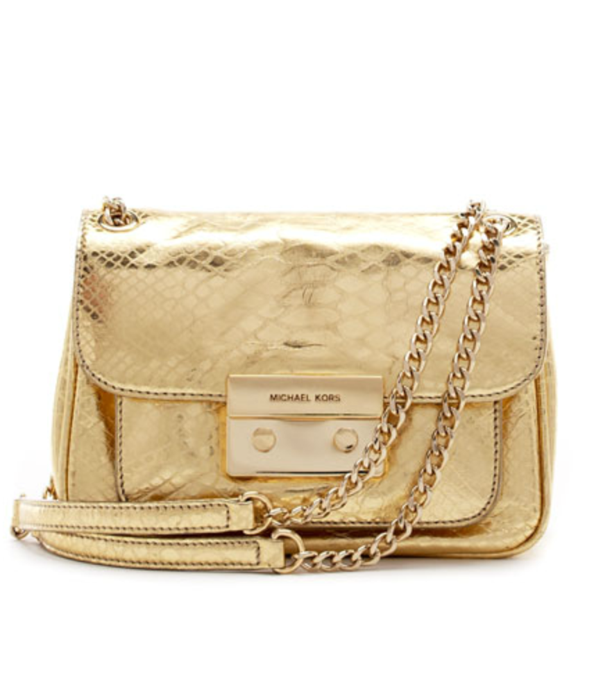 We love the structured, ladylike appeal of this Michael Kors Small Sloan Python-Embossed Shoulder Bag ($268).