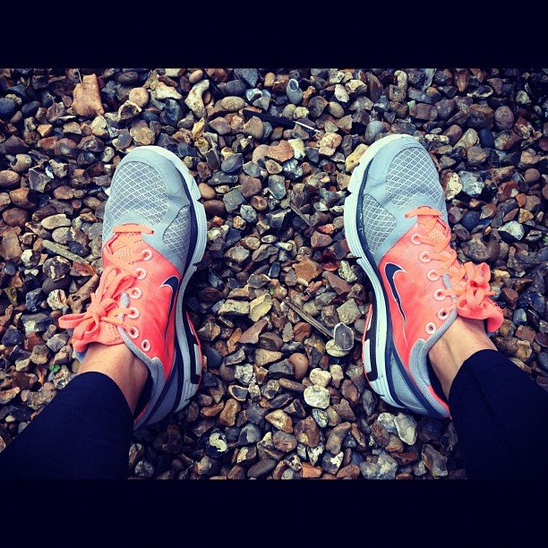 Hitting the trail with a pair of Nikes! Source: Instagram user mimiamore