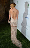 Nicole Richie showed off her back in a low cut dress for the Baby2Baby Gala in LA.