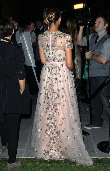 Jessica Alba wore a sheer gown for the Baby2Baby Gala.