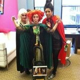 Bea, Stacy, and CelebStyle's Mandi went as the witchy Sanderson sisters from Hocus Pocus.