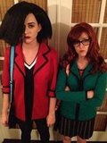 Katy Perry and Raising Hope's Shannon Woodward went as animated BFFs Daria and Jane. Source: Twitter user katyperry
