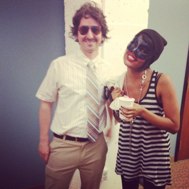 "Developer Anthony went as a Beastie Boy, ready to ""Sabotage"" the plans of cat burglar Britt."