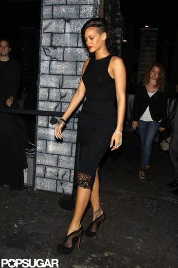 Rihanna arrived at Greystone Manor.