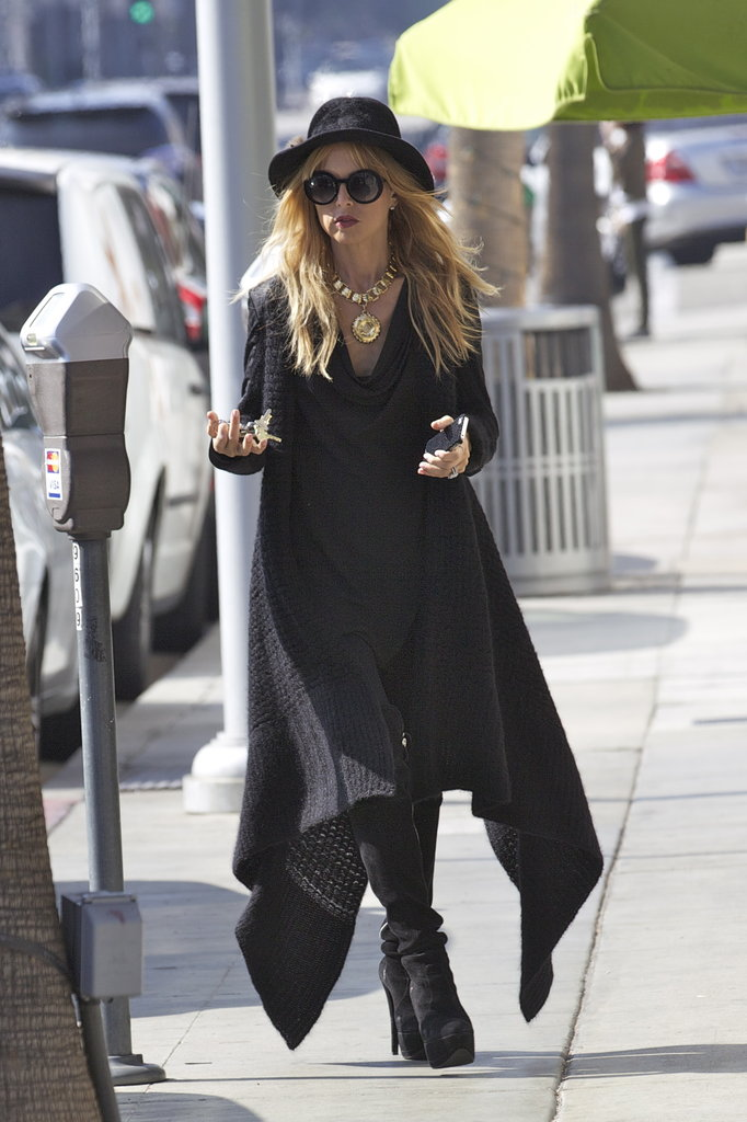 Rachel Zoe hit the pavement in Beverly Hills.