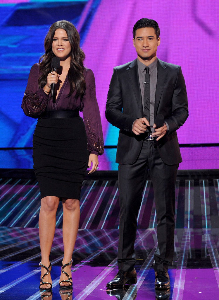 Mario Lopez and Khloé Kardashian joined forces.
