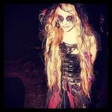 Chloë Moretz celebrated Halloween in London and dressed as Bellatrix from Harry Potter.  Source: Instagram user cmoretz