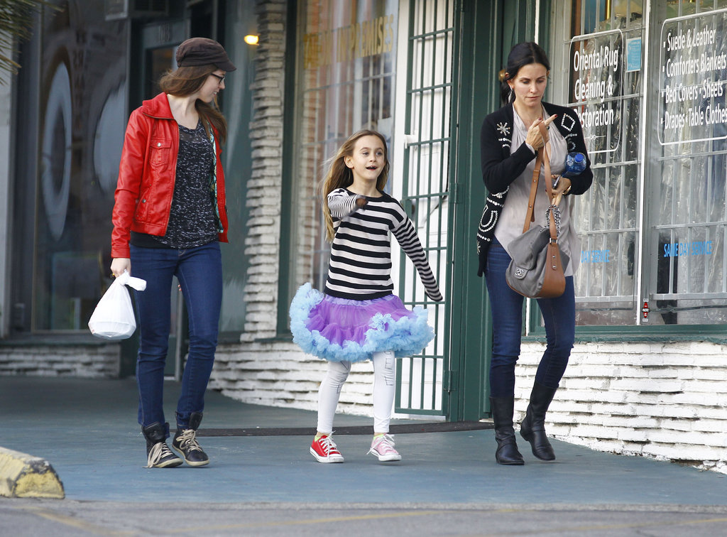 Coco Arquette strolled with Courteney Cox and a family friend.