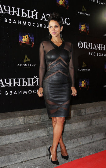 Halle Heats Up a Cold Cloud Atlas Night in a Peekaboo Dress