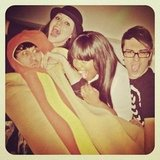 Christian Siriano hung out with Glee's Amber Riley and a hot dog.  Source: Instagram user csiriano