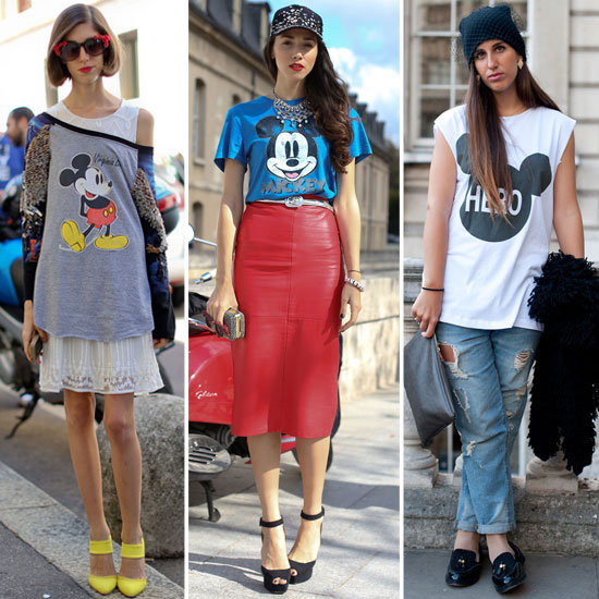Big Bird isn't the only one who had a recent moment in the spotlight. Everybody's favorite cartoon mouse is the new It character on the street style scene.