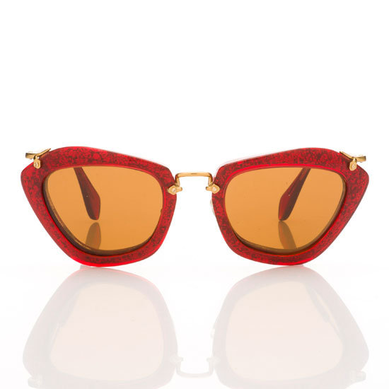 Sunglasses, $495 , Miu Miu at Sunglass Hut. Ph: 1800 556 926