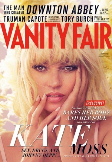 Pictures of Kate Moss's December 2012 Vanity Fair Cover