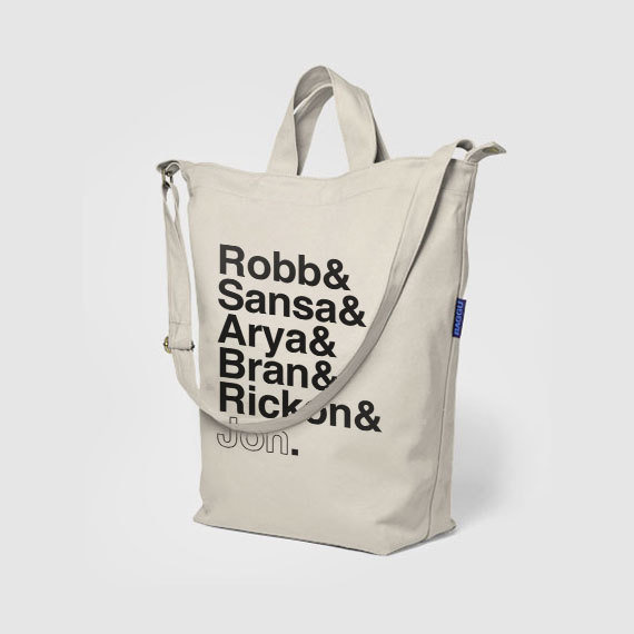 Canvas Stark Siblings Tote Bag ($40)