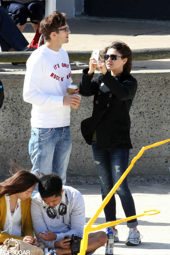 Mila Kunis and Ashton Kutcher spent some time together in Sydney.
