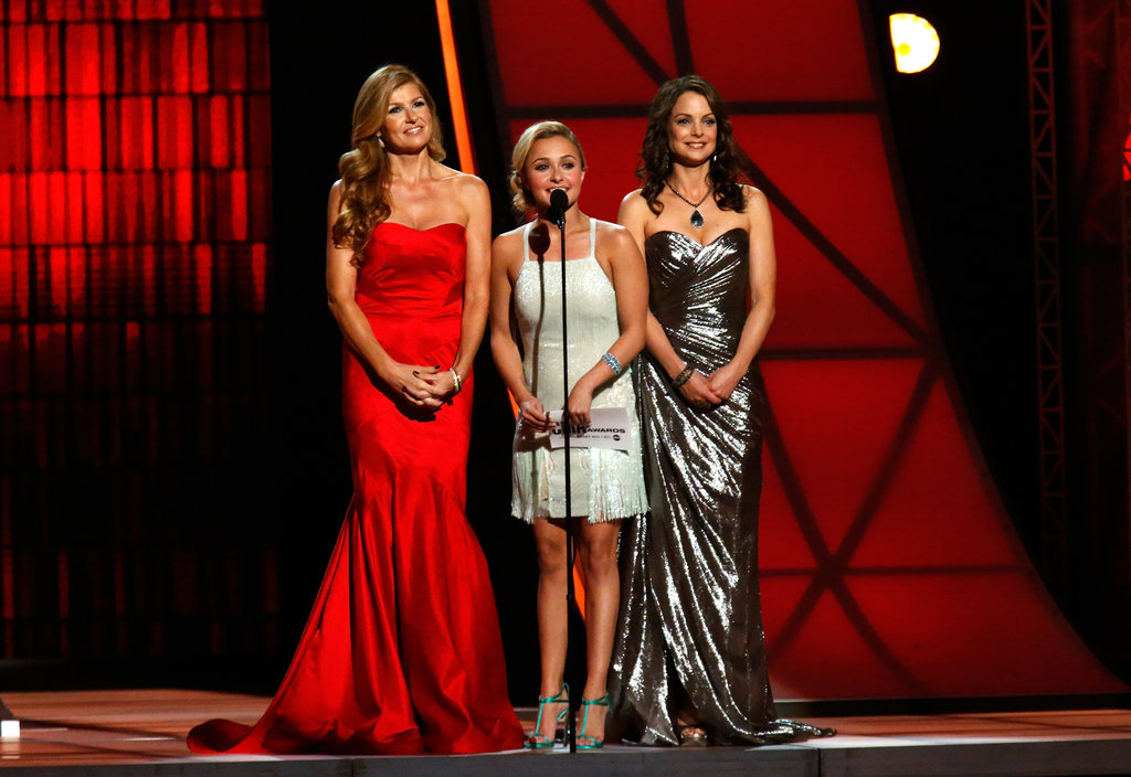 Connie Britton, Hayden Panettiere and Kimberly Williams-Paisley appeared on stage at the Country Music Association Awards in Nashville.