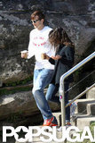 Mila Kunis stepped out with boyfriend Ashton Kutcher in Sydney.