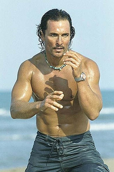 Matthew McConaughey was shirtless and ready to battle in 2005's Sahara.