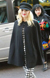 Gwen Stefani dressed in a cape.