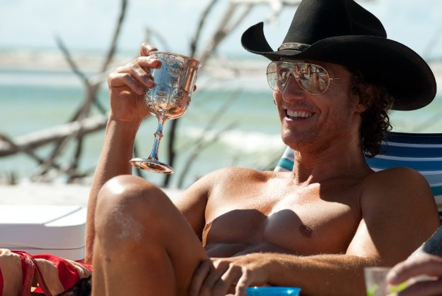 Matthew McConaughey looked good relaxing for a scene in 2012's Magic Mike.