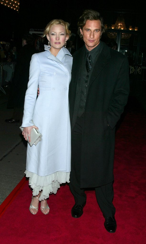 Kate Hudson and Matthew McConaughey were in NYC for the debut of How to Lose a Guy in 10 Days in February 2003.