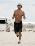 Matthew McConaughey was scruffy for a Miami beach run in August 2006.