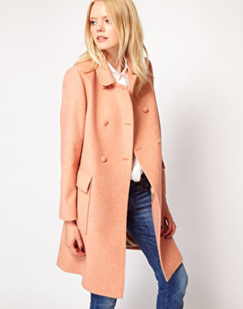 Nothing says girlie like this peach Boutique by Jaeger Louise Princess Coat ($516).