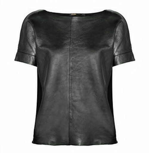 Maje Leather Tee