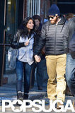 Jake Gyllenhaal held hands with a female friend during a stroll through NYC.