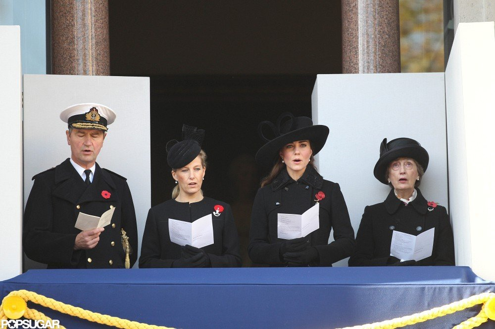 Kate Middleton sang at the Remembrance Sunday parade.