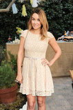 Lauren Conrad struck a pose in a lace dress.