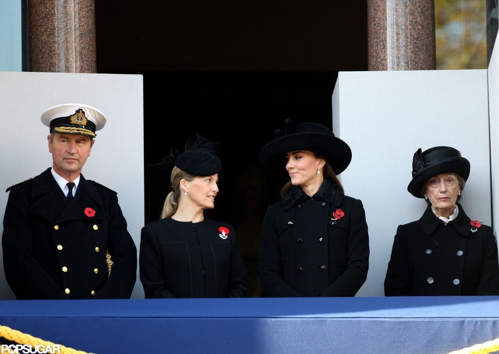 Kate Middleton watched the Remembrance Sunday parade.