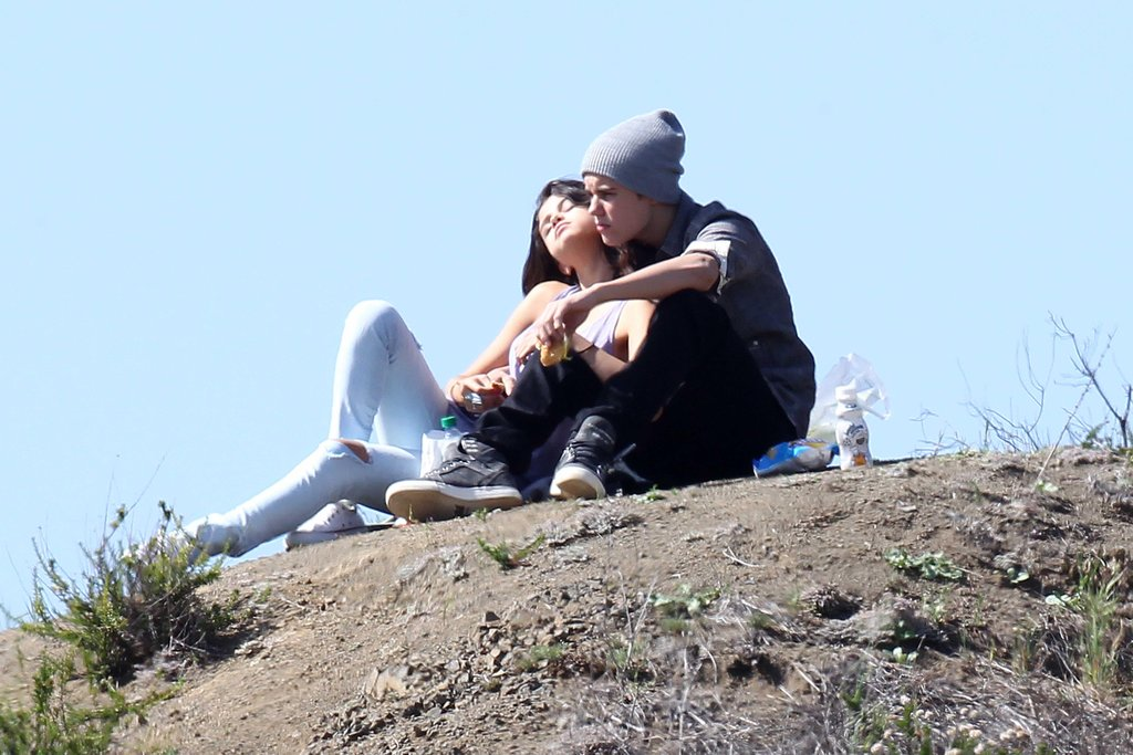 Stealing a romantic moment away in Griffith Park, Los Angeles in April 2012.