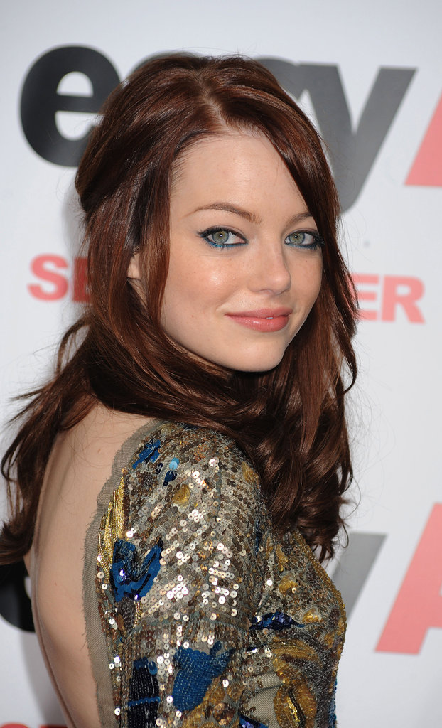 Wearing a sparkling beaded gown at the 2010 Easy A premiere, Emma decided to add some color to her lids with a shimmering blue eyeliner.