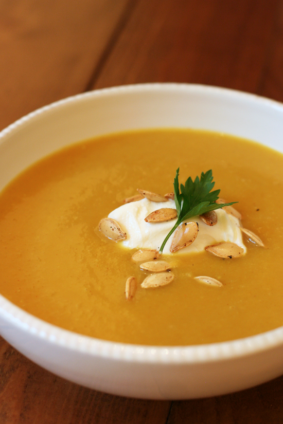 ... in flavor yet light on the butter and cream curried pumpkin soup is an