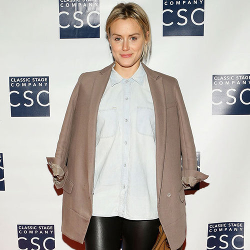 Taylor Schilling Wearing Black Leather Pants