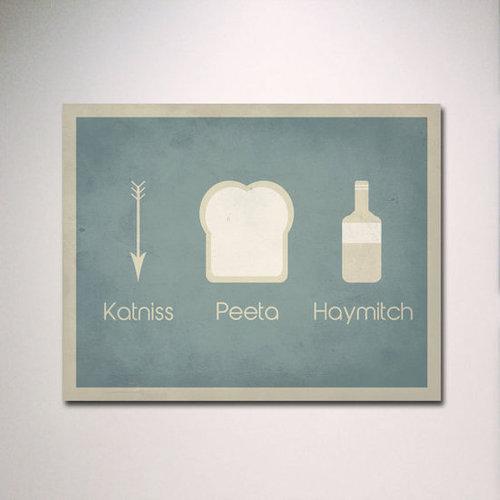 The Hunger Games Katniss Peeta Haymitch Poster ($15)